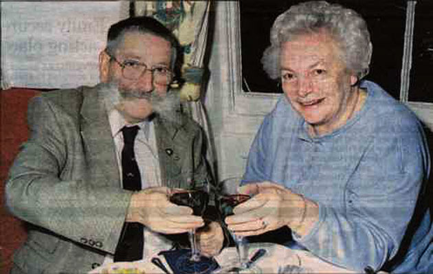 André Acres with his wife Kath in 2001