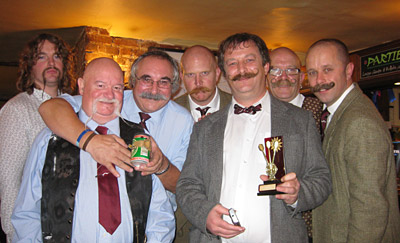 The rather surprised Handlebar Club team