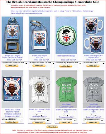 Visit the BBMC 2012 Memorabilia On-line shop now!