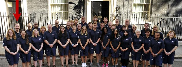 The Great Britain and Northern Ireland Clipper Round the World Team outside No. 10