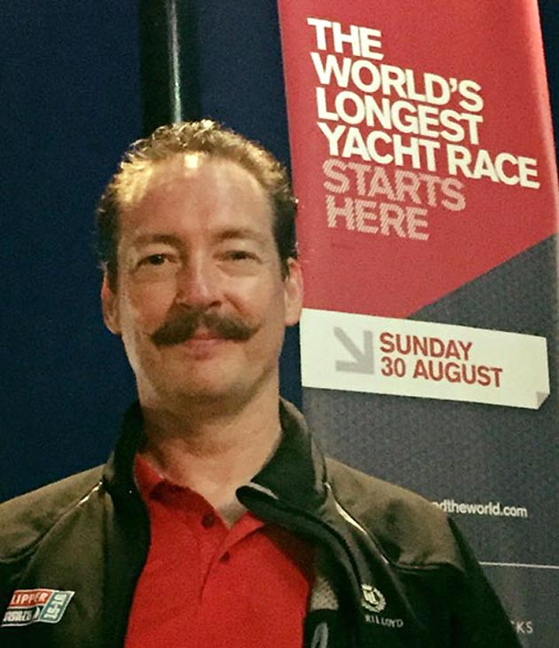 Simon Rosbottom is sailing with the Great Britain team in this eight leg, sixteen race marathon.