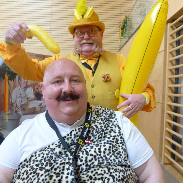 Alan 'Banana' Spencer with Andy Wakefield