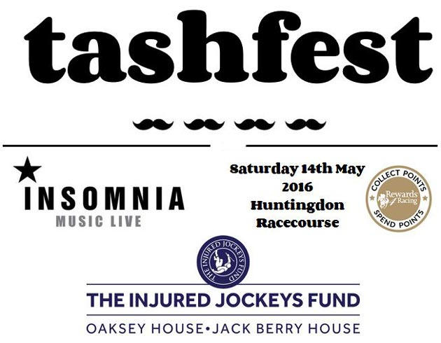 tashfest is a one day charity music festival at Huntingdon Racecourse on Saturday 14th May