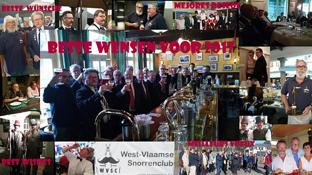 A 2016-17 New Year card from West-Vlaamse Snorrenclub