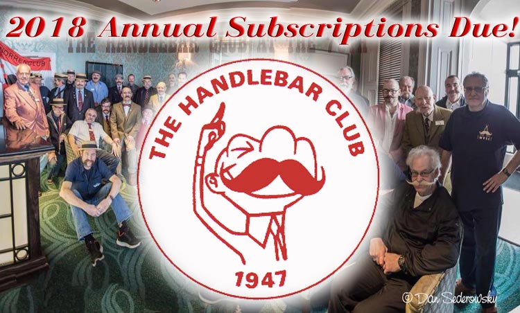 2018 Annual Subscriptions Due!