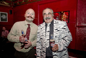 President Rod Littlewood and member Conrad Amis at the launch of Movember at Coco on Camden High Street - Click to enlarge