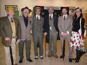 Some of the Best-Dressed Handlebar Club members at Sandown Park Gentlemen's Day - Click to enlarge