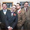 Members of The Handlebar Club attended the wedding of fellow member Aaron Burns to his Partner John Jones at St Andrews Church, Hove on January 31st - Photo: Sarah Olivier